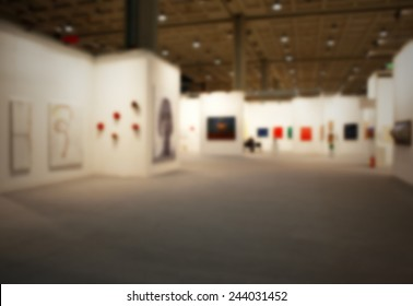 Art show gallery generic background. Intentionally blurred post production.