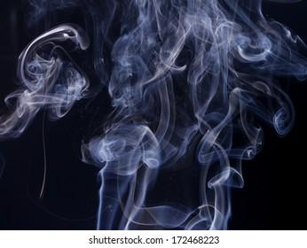 Art of smoke on black background