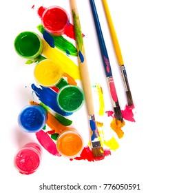 art studio paints, palette