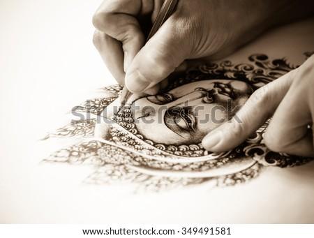 Art Tattoo Designs Hand Drawn Image Stock Photo Edit Now 349491581