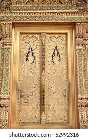art thai painting on door