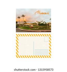 Art travel postcard, Aloha from Hawaii