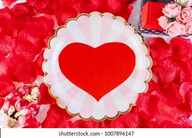 art valentine's greeting card