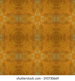 art vintage damask seamless pattern monochrome background in old gold and brown colors