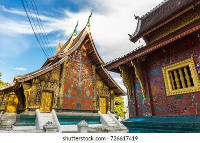 Art of Wat Xieng Thong, a Buddhist temple in Luang Prabang, Laos