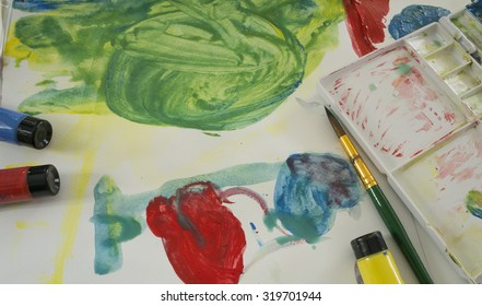 art water color education kid play fun