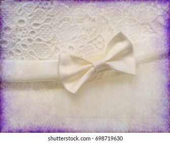 art wedding background, Wedding satin pillow on purple artbackground