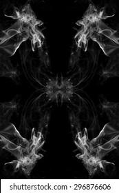 art of white smoke on black background ink beautiful