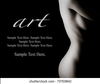 Art of Woman with Text Space to the Left