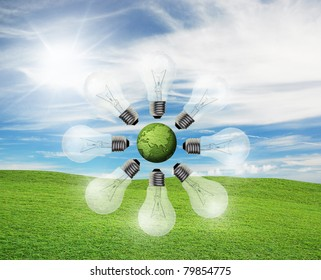 art work of concepts idea with nature background
