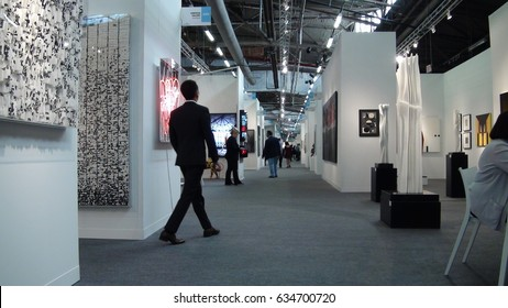 Art work exhibition corridor