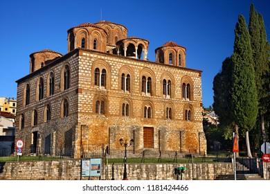 ARTA TOWN, EPIRUS, GREECE- September 22, 2012. The byzantine church of Panagia Parigoritissa (13th century A.D.)