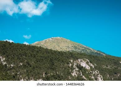 Artan mountain pyramidal peak view from valley - Shutterstock ID 1448364626