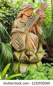 An artefact in botanic gardens