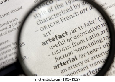 Artefact word or phrase in a dictionary.