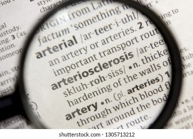 Arteriosclerosis word or phrase in a dictionary.