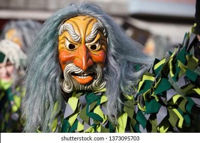 artful carnival celebration masks isolated aquarius / poseidon