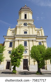 "The artful church ""Hofkirche"" of ""Neuburg"" in Bavaria"
