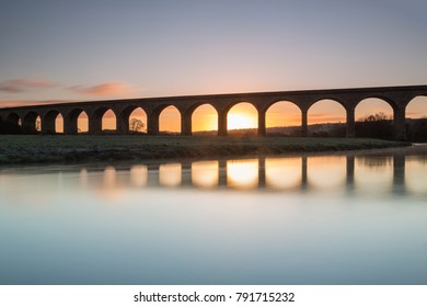 Arthington railway viaduct over the River Wharfe, North Yorkshire