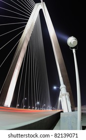 Arthur Ravenel Bridge at night. Charleston, South Carolina.