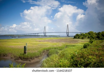 Arthur Ravenel Jr. Bridge over the Cooper river in Charleston, South Carolina