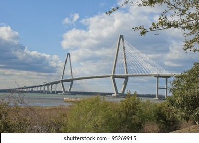 The Arthur Ravenel Jr. Bridge that connects Charleston to Mount Pleasant in South Carolina.