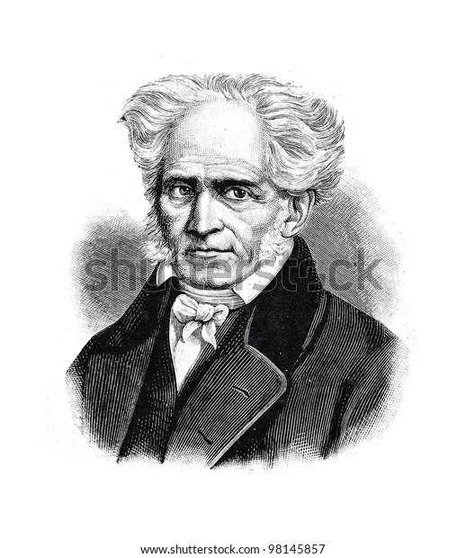 """Arthur Schopenhauer - Deutscher Philosoph. Gravur von Shyubler. Veröffentlicht in der Zeitschrift """"Niva"""", Verlag A.F. Marx, St. Petersburg, Russland, 1888"""