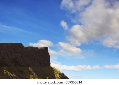 Arthur's Seat peak in Edinburgh, Scotland.