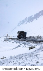 Artic Coal Mining Truck, Spitsbergen, Svalbard