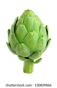 artichoke isolated on white background