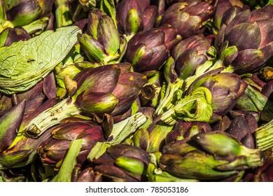 artichokes in large quantities