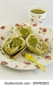 artichokes sauce green pesto diet vegetarian