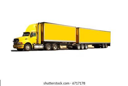 Articulated semi truck