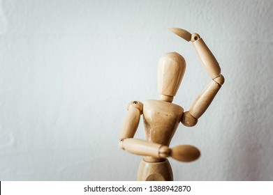 Articulated wooden mannequin, model for drawing the human body
