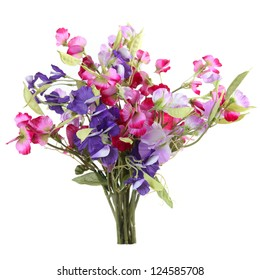 Artificial bouquet of sweet peas