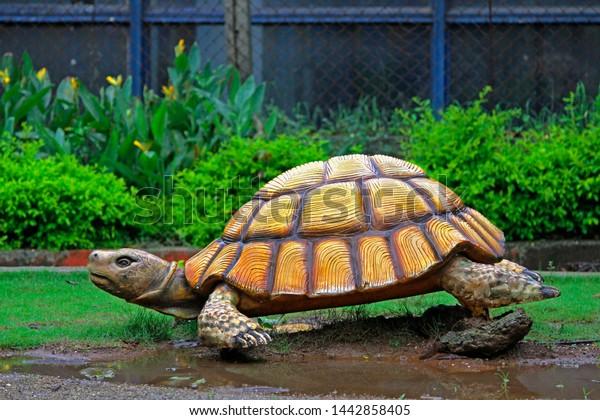 Artificial Creative Tortoise Garden Decorative Attraction