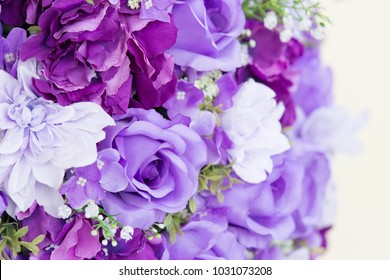 Artificial flowers background.