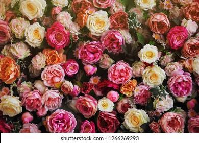 Kunstblumen, Blumenteppich