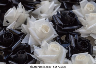 Artificial flowers at funerals