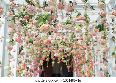 hanging flowers images stock photos vectors shutterstock. Black Bedroom Furniture Sets. Home Design Ideas