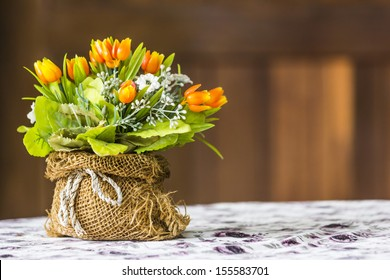 artificial flowers made from cloth