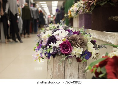 Artificial flowers in the mall