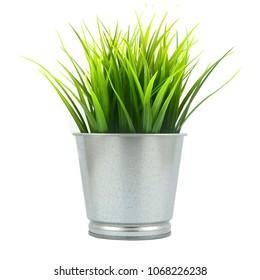 artificial flowers in pot