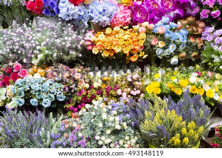 Artificial Flowers Sale Guangzhou China Stock Photo Edit Now