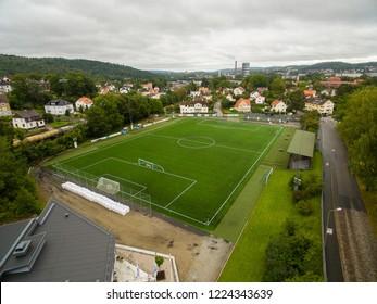 Artificial graas field for fotball in sweden  september 2017