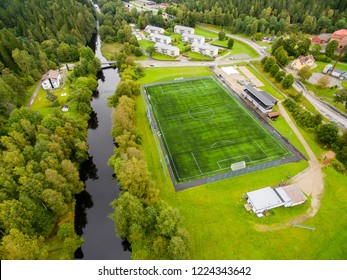 Artificial graas field for fotball in sweden  september 2017