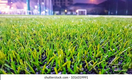 Artificial grass futsal field