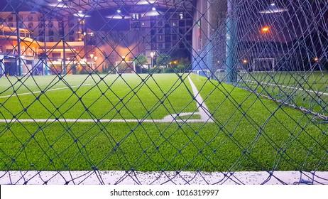 Artificial grass futsal field