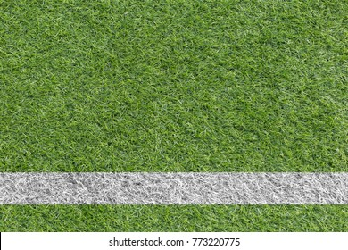 Artificial grass white line Soccer