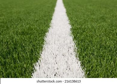 Artificial grass with white stripe.
